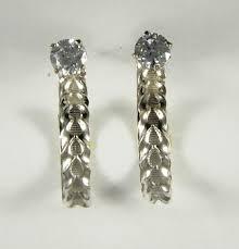 earring jackets dangle sterling silver dangle hoop earring jackets