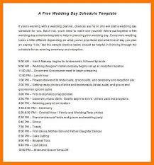 wedding itinerary template 7 wedding schedule template park attendantwedding itinerary
