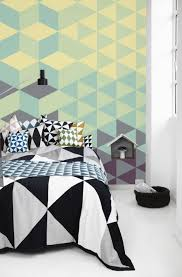 geometric wall paint good colorful offices to get your creative
