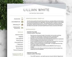 resume template modern modern resume template for word and pages creative shalomhouse us