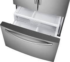 samsung showcase 27 8 cu ft french door refrigerator with thru