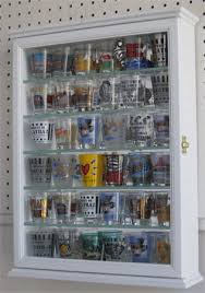 wall display cabinet with glass doors 36 shot glass display case