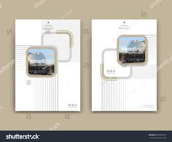 white business card style a4 brochure stock vector 695607547