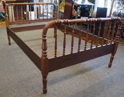 antique 19th century victorian jenny lind walnut spindle bed