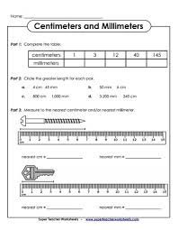 metric measurement worksheets centimeters cm and millimeters mm