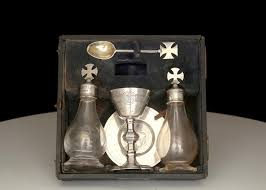 travel communion set antique george v sterling silver priest s curate s travelling