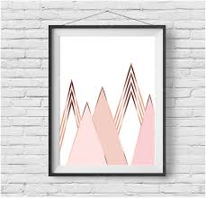 Gold Wall Decor by Gold Scandinavian Print Gold Mountain Print