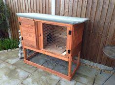 Rabbit Hutch From Pallets Rabbit Hutch Made From Pallet Wood Pet Pinterest Rabbit