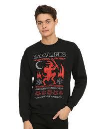 veil brides krampus holiday sweater sweatshirt topic