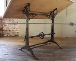 Antique Wooden Drafting Table by Antique Drafting Table Ornate Vintage Industrial Tilt Top Cast