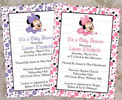 free printable minnie mouse baby shower invitations dhavalthakur com