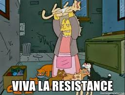 Crazy Cat Lady Memes - viva la resistance simpson s crazy cat lady meme generator