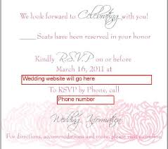 Response Card Wording Wedding Rsvp Website Template Pacq Co