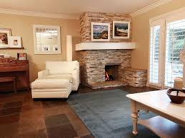 Open Concept Living Room With Corner Fireplace Living Room Living Room Design With Corner Fireplace Sunroom