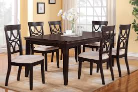 espresso dining table with leaf 55 dining room table sets for 6 7 pc vancouver oval dinette dining