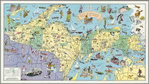 Map Of Upper Peninsula Land Of Hiawatha Michigan U0027s Upper Peninsula David Rumsey