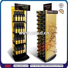 tsd m391 custom supermarketk free standing metal liquor bottle