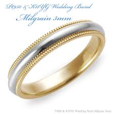 milgrain wedding band shino eclat rakuten global market pt950 and k18yg wedding band