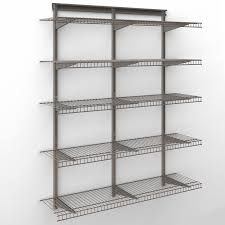 closetmaid shelftrack 4 ft wire shelf kit walmart com