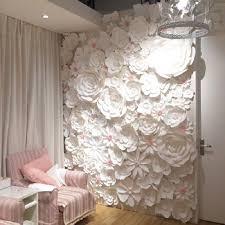 wedding backdrop paper flowers 84pcs set large wall paper flowers wedding backdrop