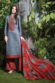 buy grey cotton straight cut palazzo salwar suit online 136cat303735