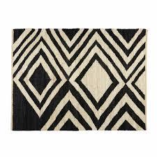 maison du monde coussin de sol blosia black and ecru jute ethnic rug 140 x 200 cm maisons du