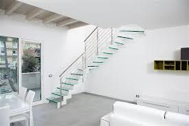 ringhiera fai da te scale in vetro per interni scale moderne lineascale