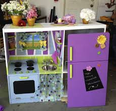 Homemade Play Kitchen Ideas Unusual Design Purple Kitchen Ideas Come With Dark Brown And White