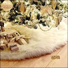 faux fur tree skirt christmas tree skirt plush shaggy faux fur white
