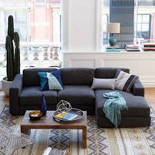 West Elm Sectional Sofa Wonderful 2 Chaise Sectional Small West Elm With