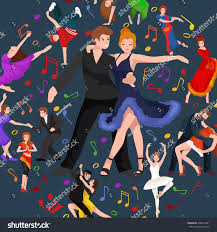a couple dancing tango cartoon clipart vector toons vector illustration couple dancing modern dance stock vector