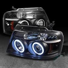 05 ford f150 headlights ford f150 2004 2008 black dual ccfl halo projector headlights with
