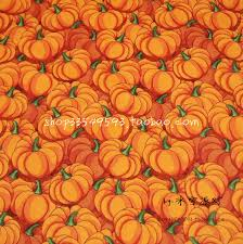 105x100cm orange background thanksgiving pumpkin cotton fabric for