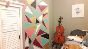 diy geometric wall mural art painting youtube diy geometric wall mural art painting