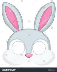 bunny mask bunny mask children masquerade vector stock vector