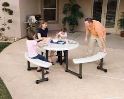 Bbq Tables Outdoor Furniture by Win A Lifetime Round Picnic Table For Your Labor Day Bbq