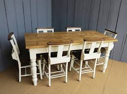 Farrow And Ball Lime White PaintReclaimed Pine Farmhouse Table - Old pine kitchen table