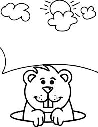 groundhog coloring preschool printable book pages sheets