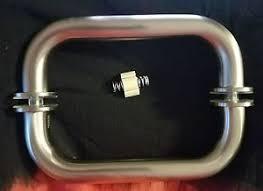 c r laurence geneva brushed nickel glass shower door pull handle