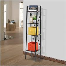 Leaning Bookcase Walmart Shelf Ladders Langria 4 Tier Shelves Ladder Bookcase Skinny Ladder