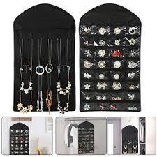 necklace display case images Closet hanging jewelry organizer necklace storage holder travel jpg