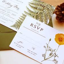 woodland botanical wedding invitation suite by vanilla retro