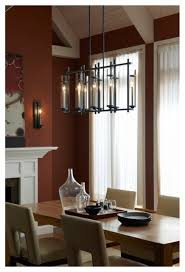 Linear Chandelier Dining Room Modern Industrial Chic Iron Linear Chandelier With Cylinder Glass