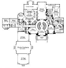 luxury ranch home floor plans luxury house plan first floor 026d
