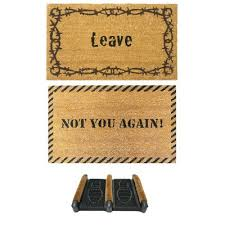 Rubber Cal Inc Wipe Your Rubber Cal Inc Not You Again Unwelcome Doormat U0026 Reviews