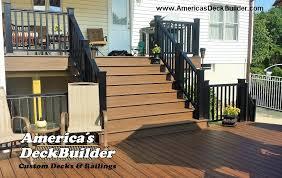allentown nj deck builder trex black railing wide stairs azek