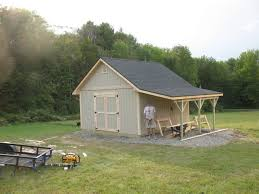 a 8 u0027 x 12 u0027 garden u0026 storage shed with an 8 u0027 overhang for firewood