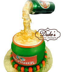 beer cake anti gravity beer bottle cake