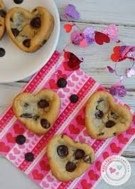 valentines day chocolate s day heart shaped chocolate chip cookies recipe