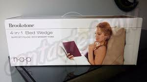 brookstone 4 in 1 bed wedge pillow with memory foam ebay